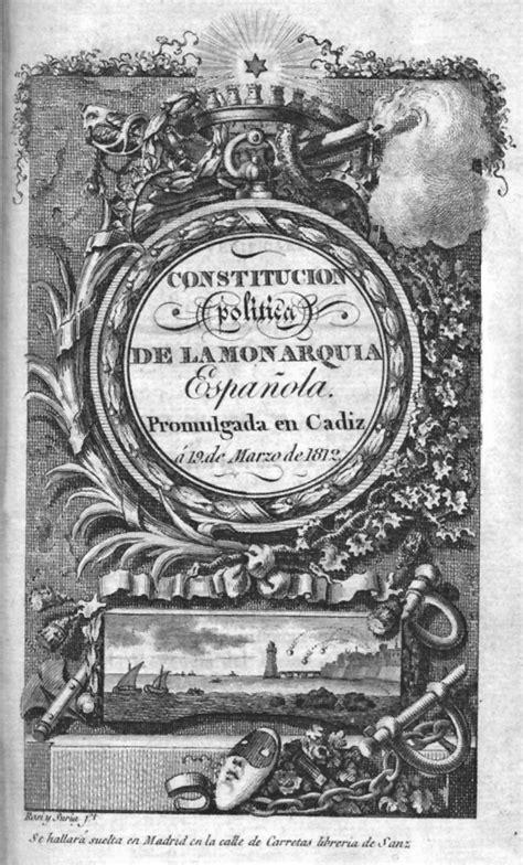 Spanish Constitution of 1812   Wikipedia