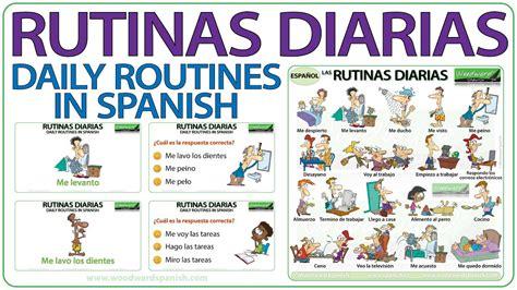 Spanish daily routines   Rutinas diarias en español   YouTube