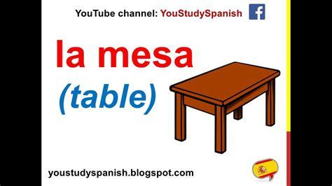 Spanish Lesson 67   FURNITURE in Spanish Vocabulary Parts ...