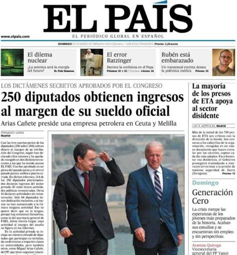 Spanish newspaper El Pais launched this week its Chilean ...