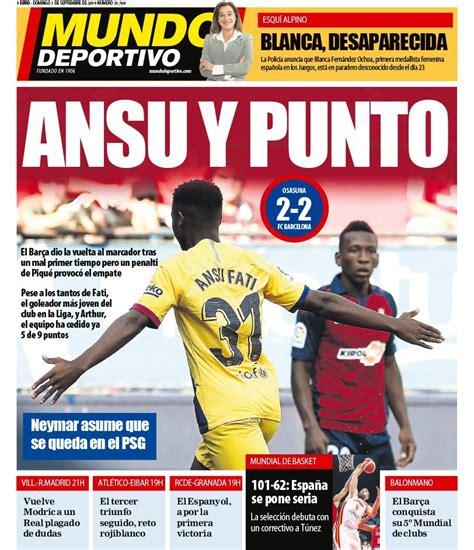 Spanish newspaper headlines reaction to Ansu Fati ...