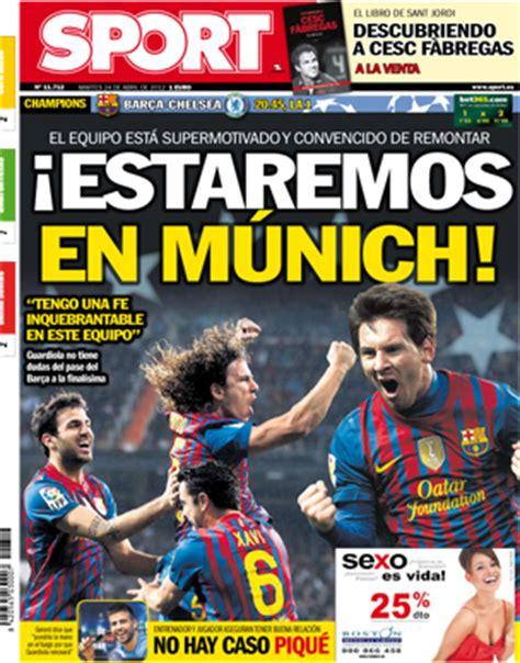 Spanish newspaper Sport forced to change their front cover ...