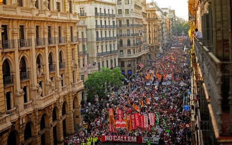 Spanish protests over new austerity measures   Telegraph