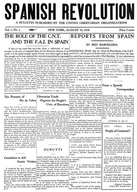Spanish Revolution — English Language Paper of the POUM