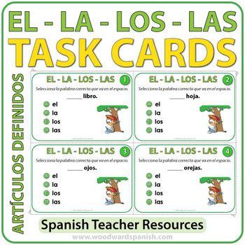 Spanish Task Cards   Los Artículos Definidos by Woodward ...