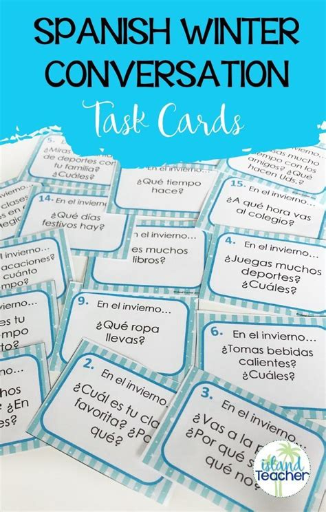 Spanish Task Cards Winter Questions Speaking or Writing ...