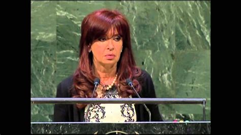 SPEECH OF THE PRESIDENT CRISTINA FERNÁNDEZ DURING THE ...