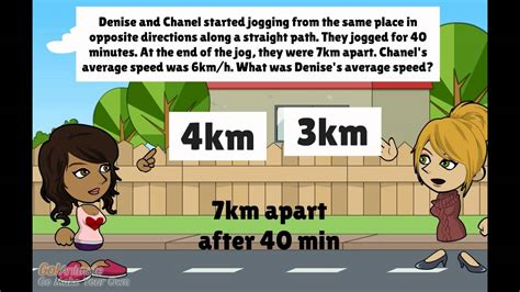 speed jogging question   PSLE Math Problem Sums   YouTube