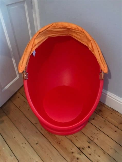 Spinning Egg Pod Chair Ikea LOMSK in Red with Orange Hood ...
