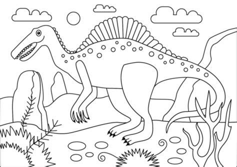 Spinosaurus Dinosaur coloring page | Free Printable ...