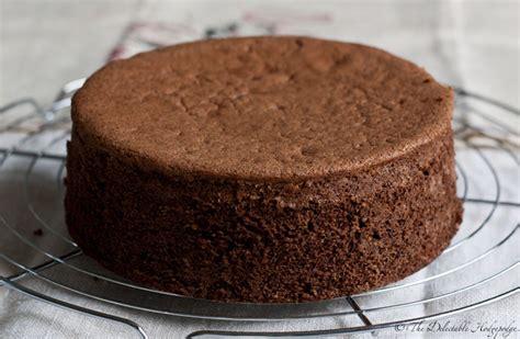 Sponge Cake Genoise Chocolat Recipe   The Delectable ...