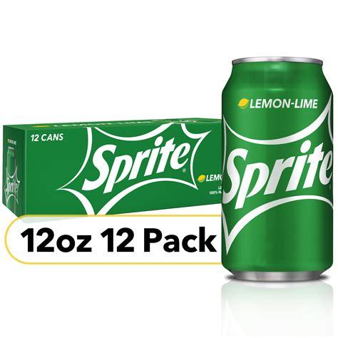Sprite Lemon Lime Soda Soft Drinks, 12 fl oz, Pack of 12