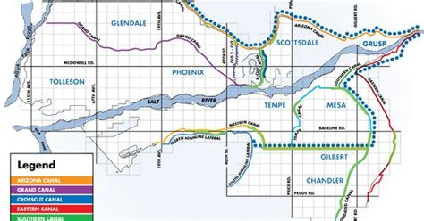 SRP Canal map   Calculate running distance for a run along ...