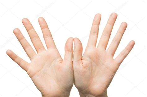 손바닥을 보여주는 두 손을 클로즈업합니다 — 스톡 사진  Syda_Productions #104584826
