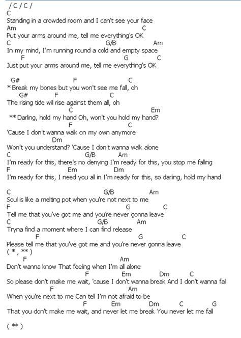 คอร์ด เนื้อเพลง Hold My Hand Jess Glynne Chordza | คอร์ด ...