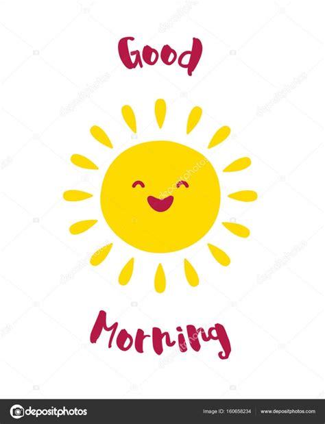 漫画の太陽の笑顔。おはようカードします。ベクトル — ストックベクター  yanabear #160658234