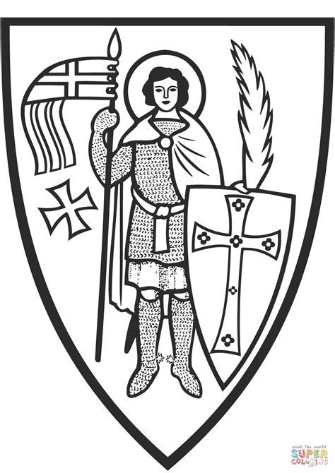St. George coloring page   Free Printable Coloring Pages