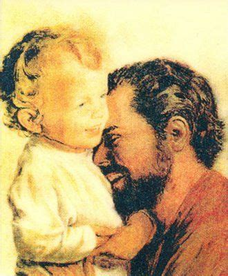 St. Joseph and baby Jesus. Never seen this photo of them ...