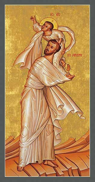 St. Joseph with the Child Jesus   Icon Reproduction ...
