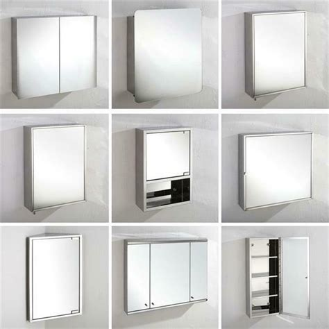 Stainless Steel Bathroom Mirror Cabinet Corner and Wall ...