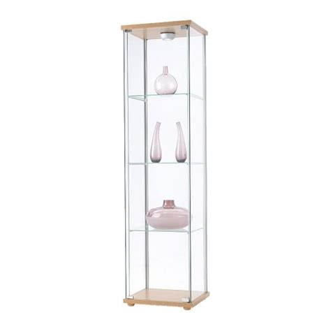 Staklena vitrina IKEA DETLOF na kotačima