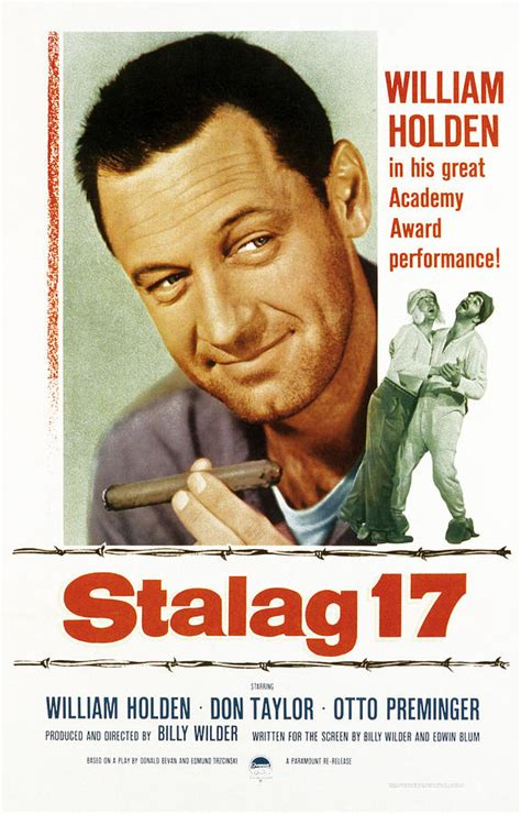 Stalag 17, Poster Art, William Holden Photograph by Everett