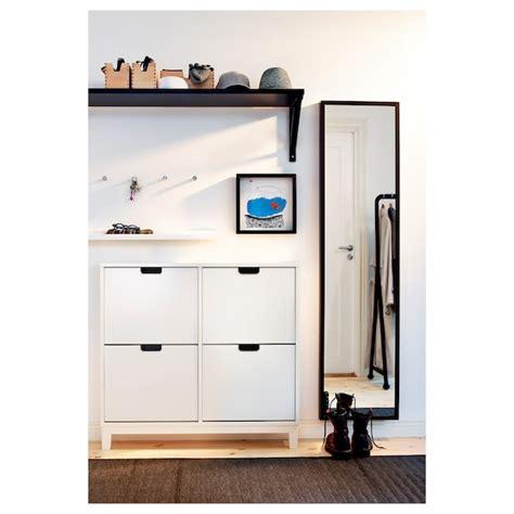 STÄLL Zapatero con 4 compartimentos, blanco, 96x90 cm   IKEA