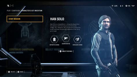 Star Wars Battlefront 2 Customize Han Solo with Shoulder ...