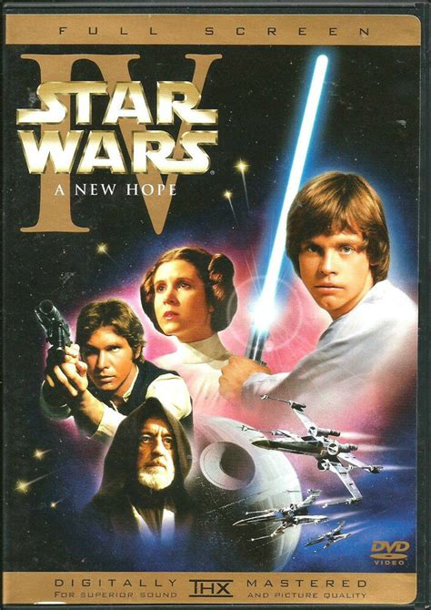 STAR WARS IV A NEW HOPE DVD  1  DISC REMASTERED VERSION ...