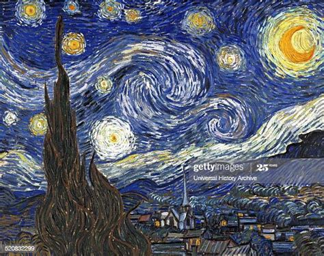 Starry Night  by Vincent Van Gogh a post impressionist ...