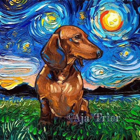 Starry Night Dogs Series Places Pups Inside of Van Gogh s ...