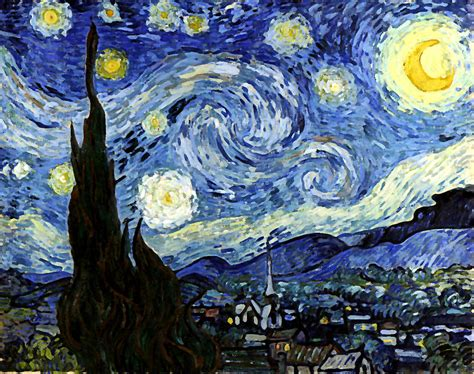Starry Night Reproduction Art Work Digital Art by Vincent ...