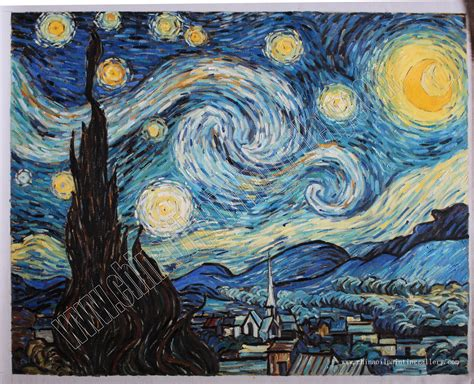 Starry Night   Van Gogh   oil painting reproduction ...