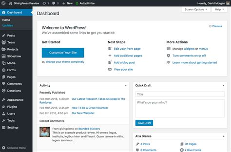 Starting A Nonprofit Website Is Easy Using GivingPress