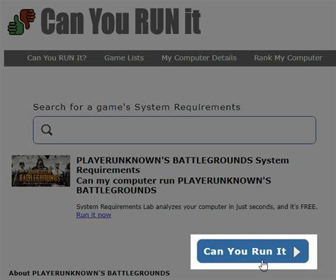 Steamゲーム「PUBG」を自分のPCスペックでプレイできるかどうかを調べる方法 [Can You RUN it ...