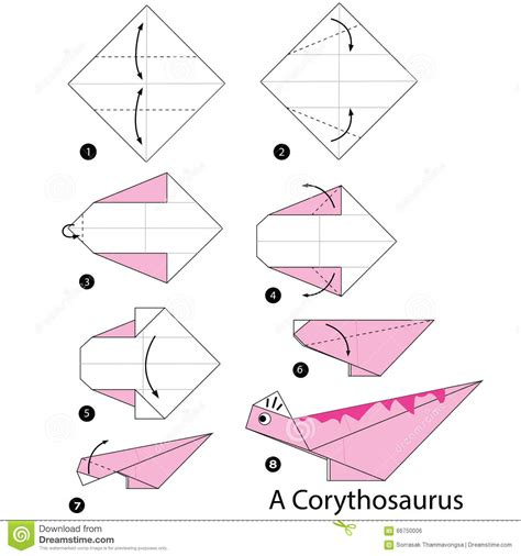 Step By Step Instructions How To Make Origami A Dinosaur ...