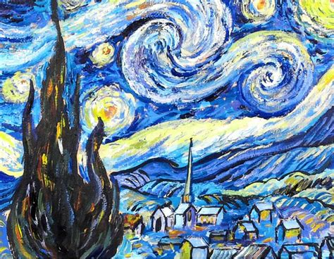Step by Step Van Gogh's Starry Night Acrylic Painting Tutorial
