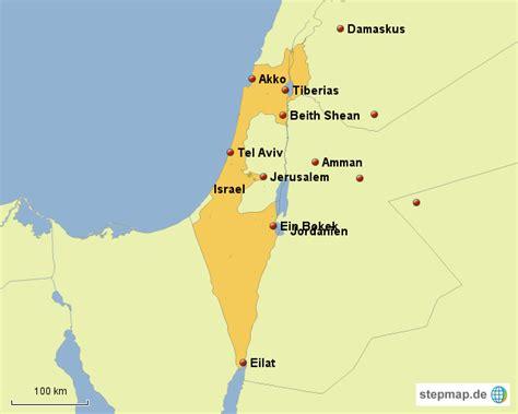 StepMap   Israel Musterkarte   Landkarte für Europa