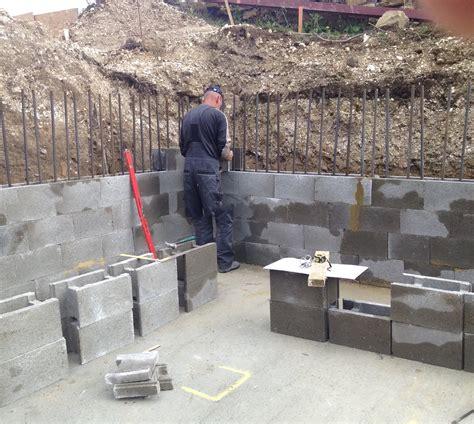 Stepoc Retaining Walls for Basement Construction