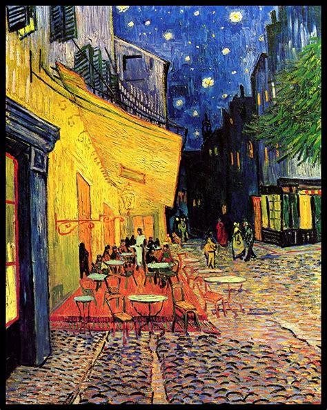 """""""Terraza de café por la noche"""", de Vincent Van Gogh  1888 ..."""