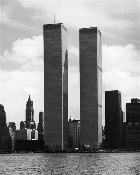 """""""The twin towers of the World Trade Center in 1974. On ..."""