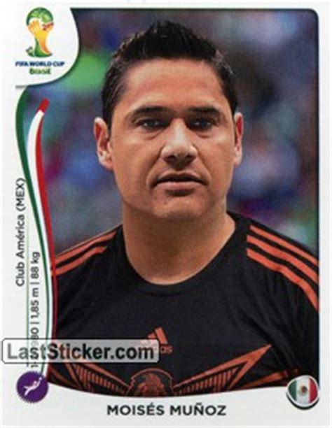 Sticker 88: Moisés Muñoz   Panini FIFA World Cup Brazil ...