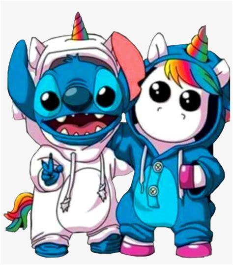 Sticker Stitch Unicorn Unicornio Rainbow Arcoiris Kawaii ...