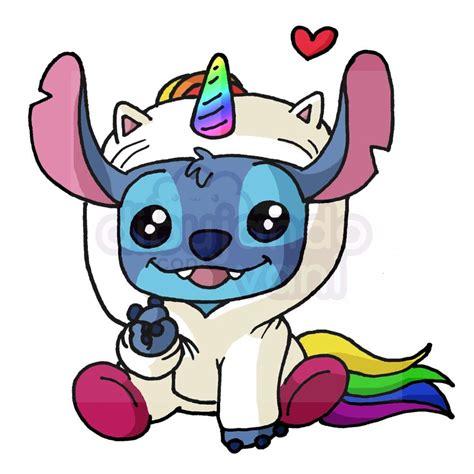 stitch unicornio kawaii   Dibujando con Vani