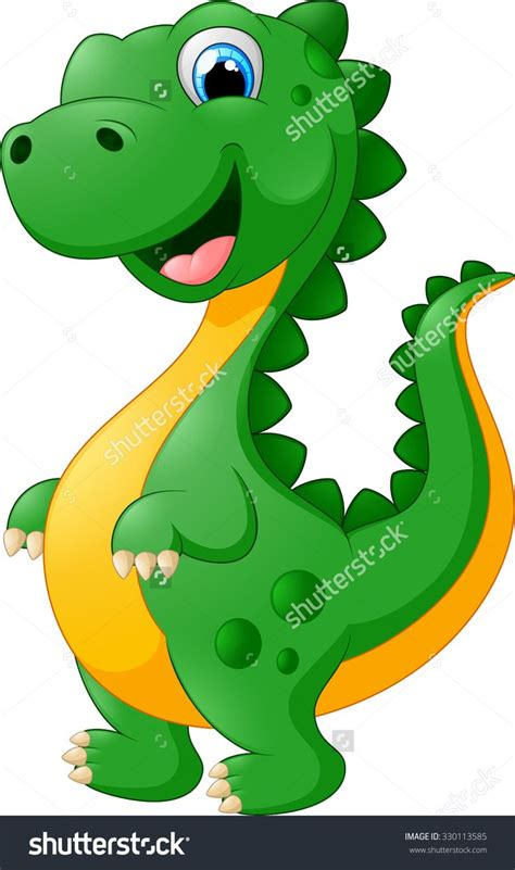 stock vector cute dinosaur cartoon 330113585.jpg  946×1600 ...