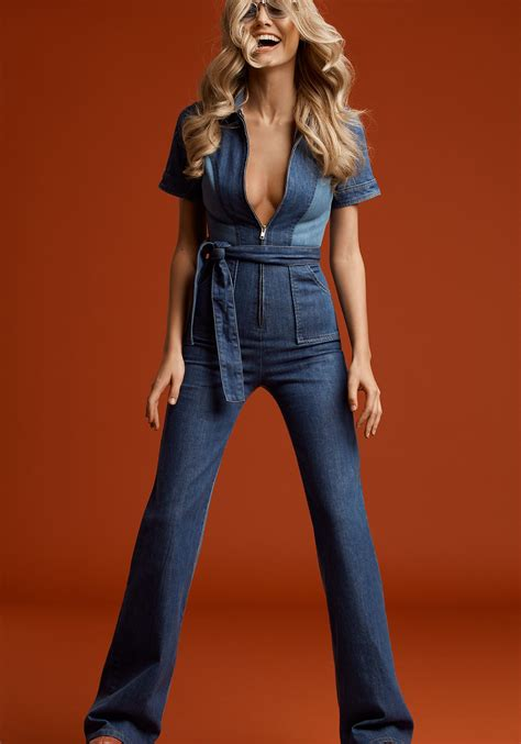 Stoned Immaculate Blue Jean Baby Denim Jumpsuit | Fashion ...