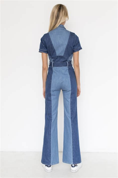 Stoned Immaculate Denim Blue Jean Baby Jumpsuit | Garmentory