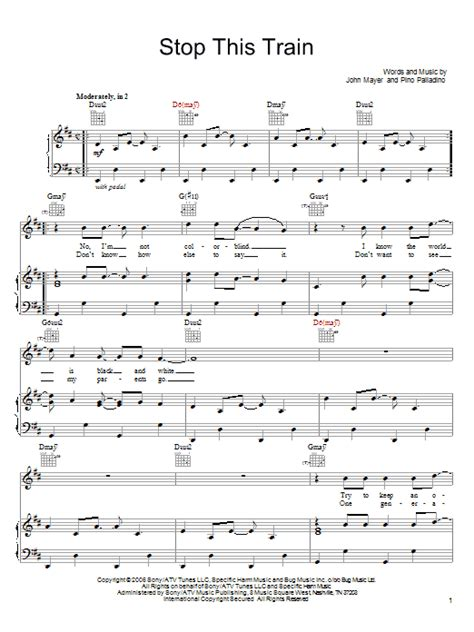 Stop This Train   Sheet Music Direct