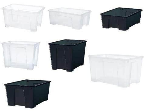 STORAGE BOX IKEA SAMLA STRONG PLASTIC CLEAR VARIOUS SIZES ...