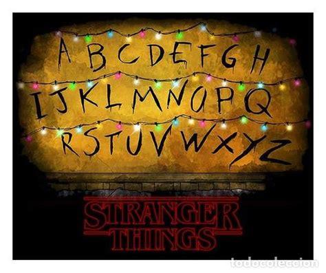stranger things   abecedario  poster    Comprar Carteles y ...